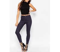 Rivington Denim-Jeggings mit hoher Taille in grauer Ink-Waschung Grau