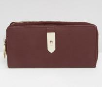 Brieftasche aus Leder Rot