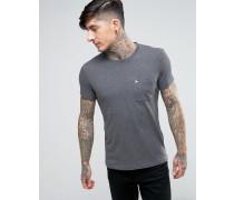 Ayleford T-Shirt mit Logo, Noppen und einer Tasche Grau