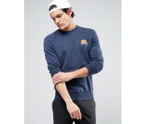 Sweatshirt mit kleinem Logo Marineblau