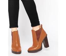EAST MEETS WEST Spitze Chelsea-Ankle Boots Bronze