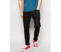 Levi's Jeans 520 Extreme Tiefschwarze Karottenjeans Schwarz