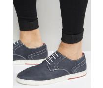 Derby-Schuhe in Marineblau Blau
