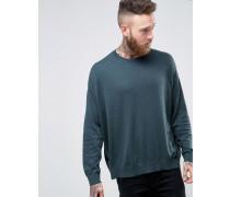 Oversize-Pullover aus blauer Baumwolle Blau