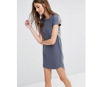 T-Shirt-Kleid mit gewebter Rückseite Grau