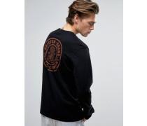 Pace Langärmliges Shirt mit Rückenaufdruck Schwarz