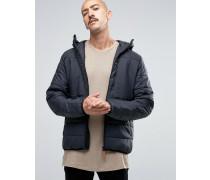 Keb Wattierte Jacke mit Kapuze in Schwarz Schwarz