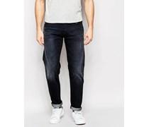Steady Eddie Gerade geschnittene Jeans in schwarzer Note-Waschung Schwarz