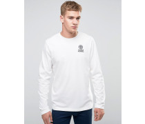 Franklin and Marshall Langarmshirt mit Brustlogo Weiß