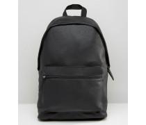 Rucksack aus genarbtem Kunstleder Schwarz