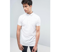 Polohemd mit genopptem Design Weiß