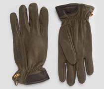 Handschuhe aus Leder und Wildleder Braun