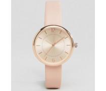 Mink Uhr mit Armband in Lederoptik Steingrau