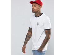 Ringer-T-Shirt Weiß
