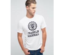 Franklin and Marshall T-Shirt mit großem Logo Weiß