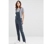 Jeans-Overall mit Ösen Blau