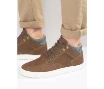 Knöchelhohe Sneaker in Braun Braun