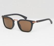 Jeans Rechteckige Sonnenbrille in Mattschwarz Schwarz