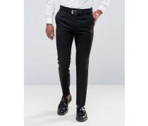 Elegante, schmal geschnittene Hose Schwarz
