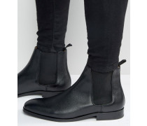 Gerald Chelsea-Stiefel aus Leder Schwarz