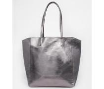 Einkaufstasche in Metallic Grau