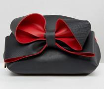 Exaggerated Bow Makeup-Tasche Schwarz