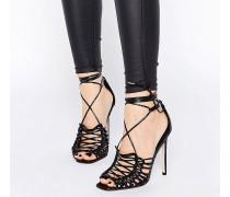HUSHED Sandalen mit hohem Absatz Schwarz