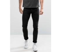 Jack & Jones Schmale Stretch-Jeans in verwaschenem Schwarz Grau