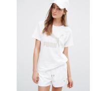 Boyfriend-T-Shirt Weiß