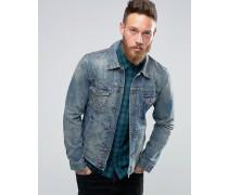 Jeans-Jacke mit Zierrissen Blau