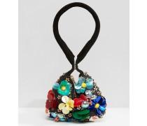 Beuteltasche mit 3D-Blume Mehrfarbig