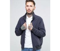 Armani Jeans-Bomberjacke mit Logo und marineblauen Ärmeln Marineblau