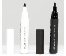 Dramatischer Jumbo-Eyeliner und Eraser-Korrekturstift im Set Schwarz