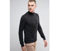 Pullover mit hohem Kragen Marineblau