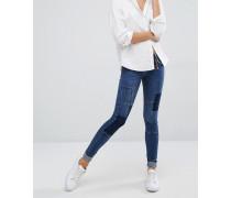 Patchwork-Jeans Blau