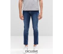 Brooklyn Supply Co Dumbo Skinny-Jeans in Stone-Waschung Blau