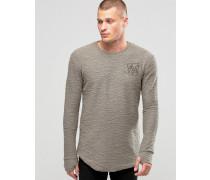 Langärmliges Flanell-T-Shirt Grün