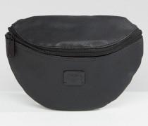 Gürteltasche aus perforiertem Kunstleder Schwarz
