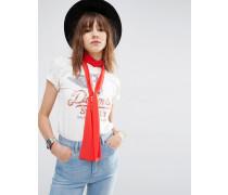 Langer, schmaler Schal im 70er-Jahre-Look in Rot Rot
