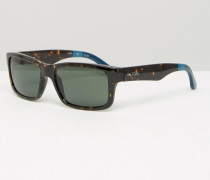 Culver Eckige Sonnenbrille Schwarz