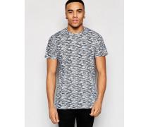 Schmales T-Shirt mit Rundhalsausschnitt Grau