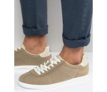 Retro-Sneaker in Braungrau Beige
