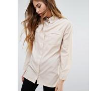 Hemd mit Brusttaschen Beige
