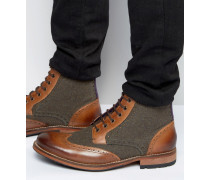 Sealls Stiefel im Budapester Stil aus Wollmischung Bronze