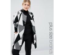 Mantel mit Aufnäher Mehrfarbig