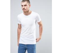 Weißes T-Shirt aus Stretchbaumwolle Weiß