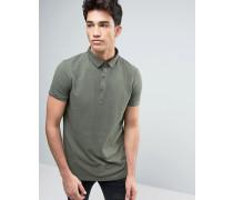 Polohemd mit genopptem Design Grün