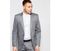 Wedding Schmale, genoppte Anzugjacke in Grau Grau