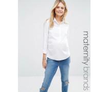 Mamalicious Schickes Hemd Weiß