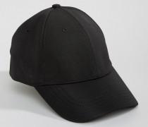 Baseballkappe in Schwarz Schwarz